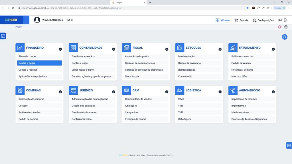 Interface para empresa de ERP - Software