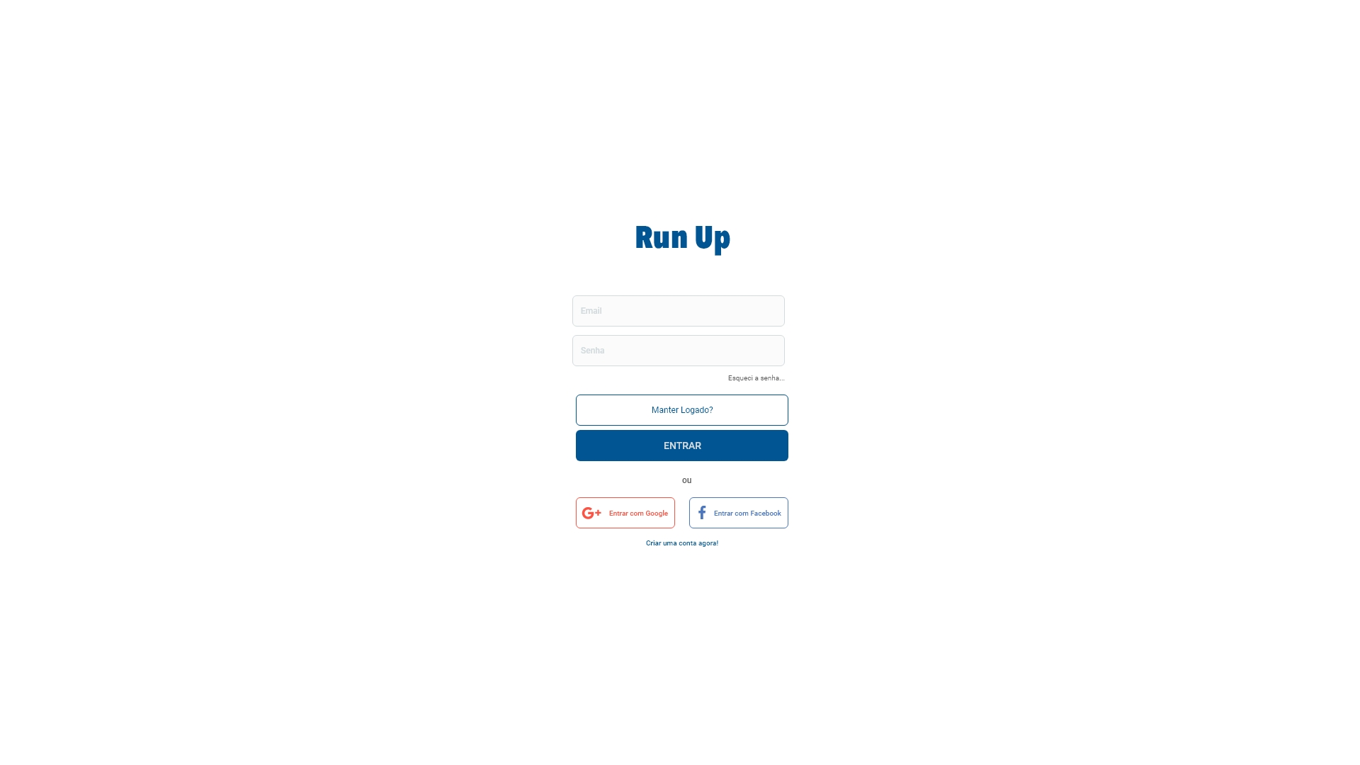 Interface - gerenciador de conteudo Run Up